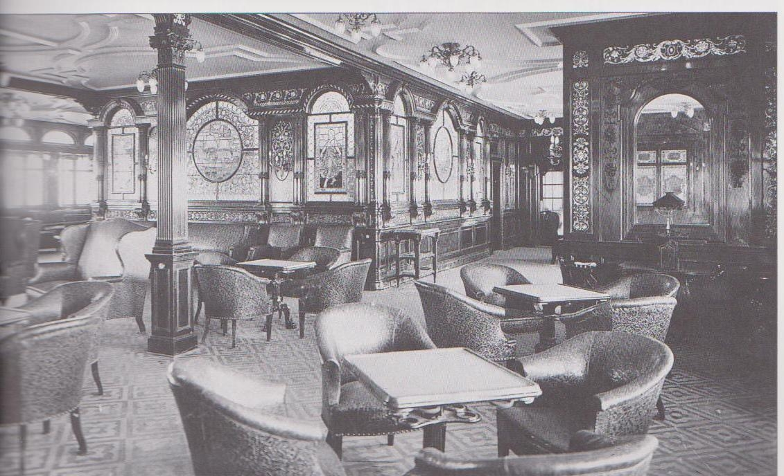 First class smoking room. Passenger Life Aboard the Titanic   Diana Overbey