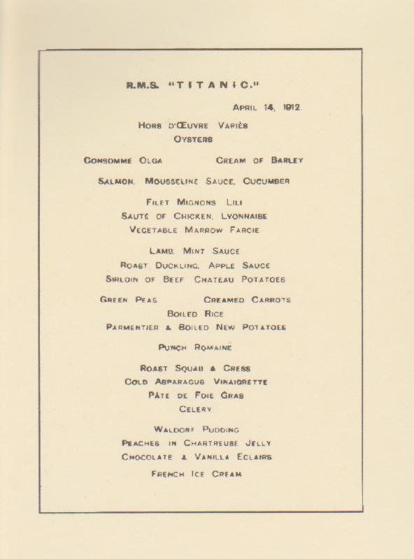 Dining On The Titanic Diana Overbey
