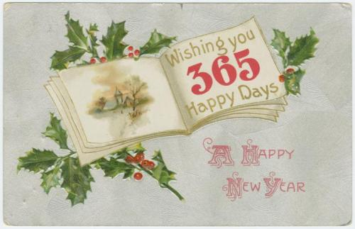 New Year's postcard